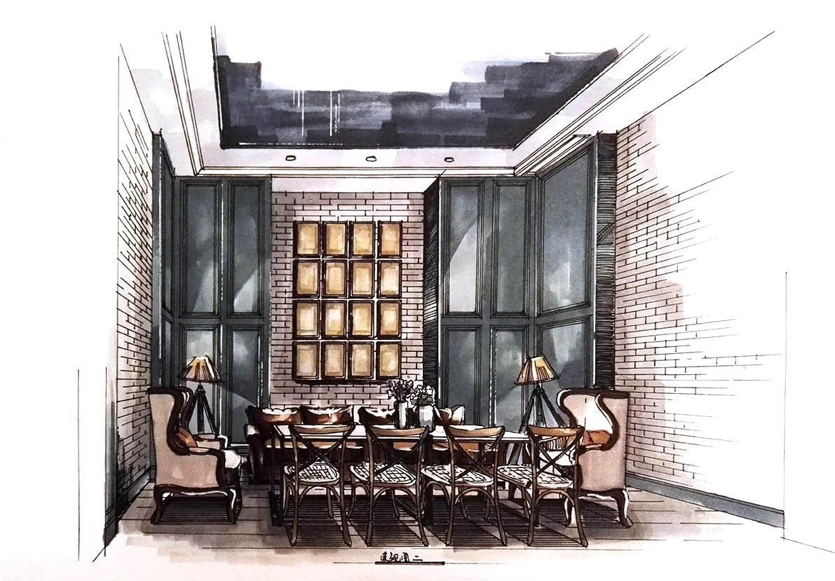 手绘餐厅快题设计
