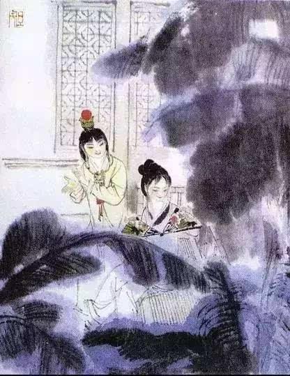 古诗配画水粉画中学生