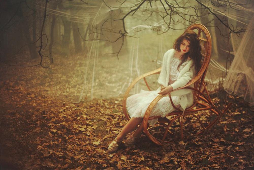 森林中的唯美女神