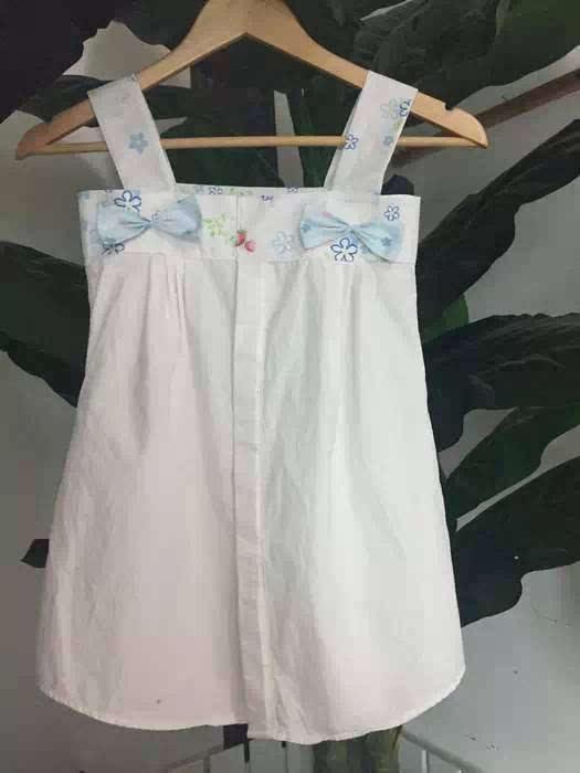 把爸爸的衬衫改造成孩子的衣服或裙子, 是不是特别有爱,特别温馨?