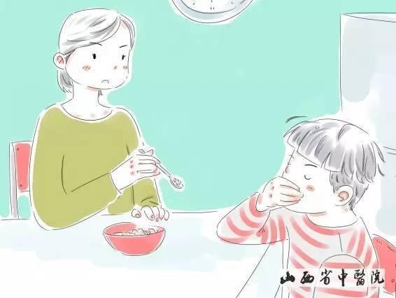 围桌子吃饭卡通图片