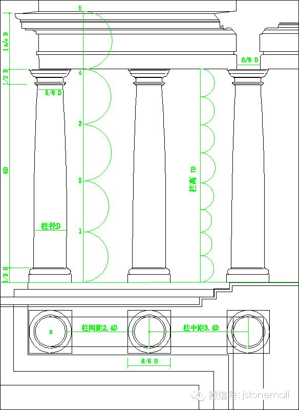 欧式罗马柱赏析(内附设计标准图)
