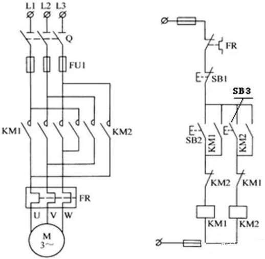 60,正,停,反转电路的工作原理