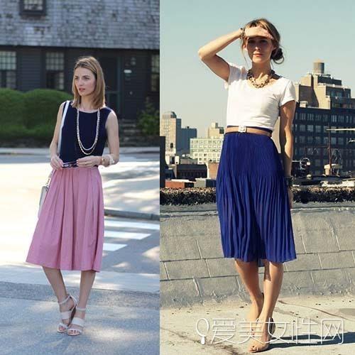 夏季半身裙搭配图片 时尚穿搭学起来