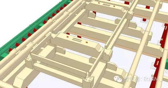 [bim头条]bim信息模型图解(七):探解清式庑殿结构的安装