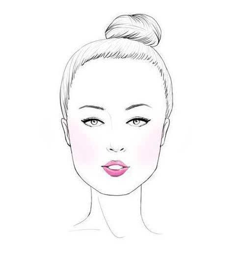 散头发女子手绘