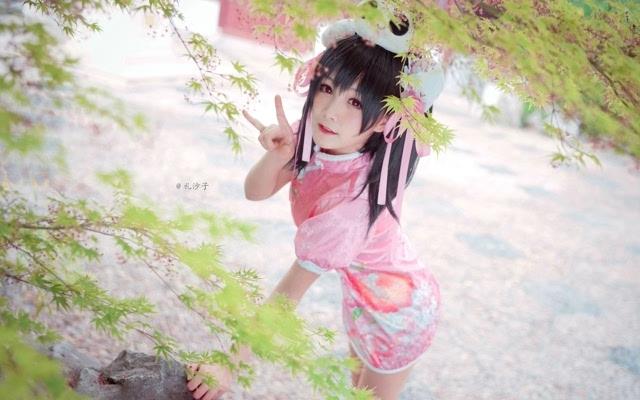 可爱萝莉cosplay矢泽妮可旗袍写真电脑壁纸