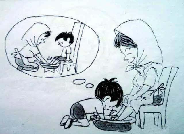 关于孝简笔画图片-母亲节 总有一个人用尽一生来爱你
