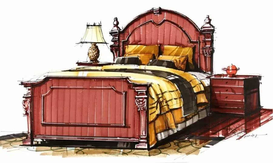 家具单体手绘马克