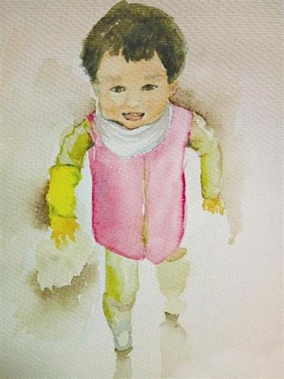 满满的母爱 妈妈200多幅手绘画作记录孩子成长