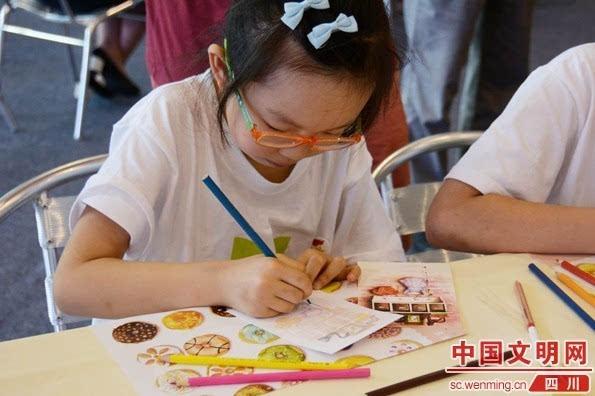 学生手绘明信片.