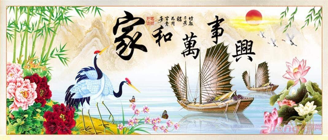 孔雀牡丹十字绣    图案:中国风系列~