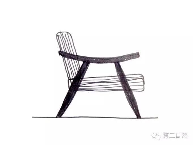 """basic扶手椅的手绘图纸,一款如此受欢迎的椅子的手绘图也简单至极,""""好"""