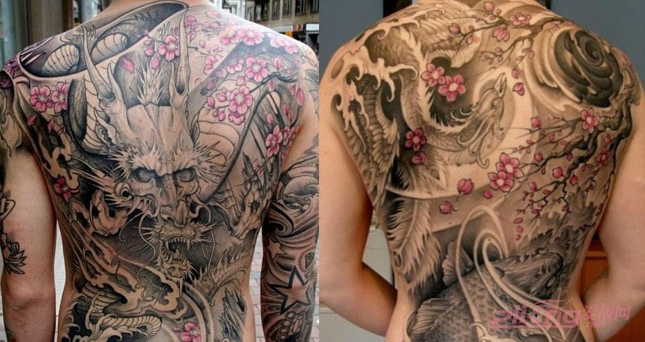 霸气侧漏的满背纹身图案大全