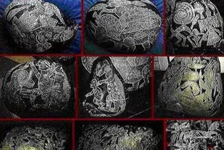 史前壁画揭秘惊人发现 恐龙曾被巨人奴役