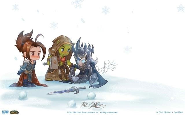 《魔兽世界》q版卡通桌面壁纸