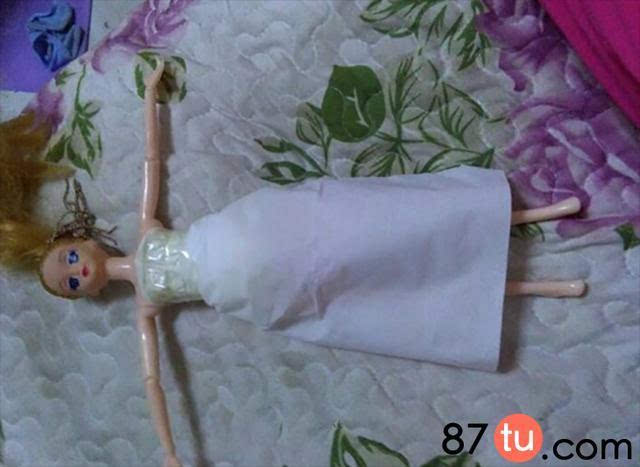 娃婚纱折纸图解教程