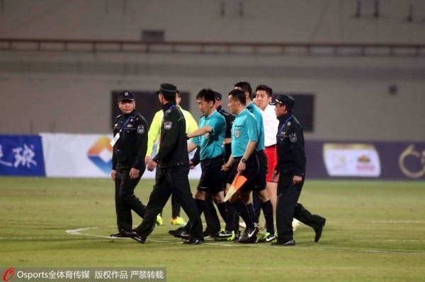 上海嘉定城发赛后围攻裁判讨要说法