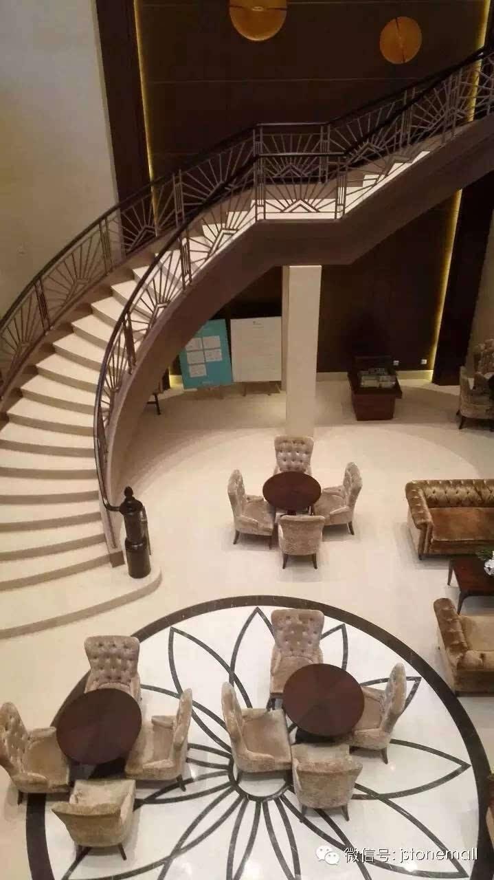 八大绝招打造豪华石材旋转楼梯!