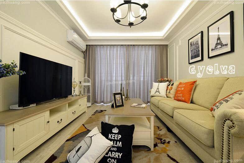 88平现代美式小清新 客厅卧室互换改造