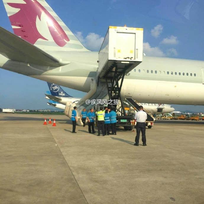 欧美无码777_突发现场|卡塔尔航空一架波音777在广州被放滑梯