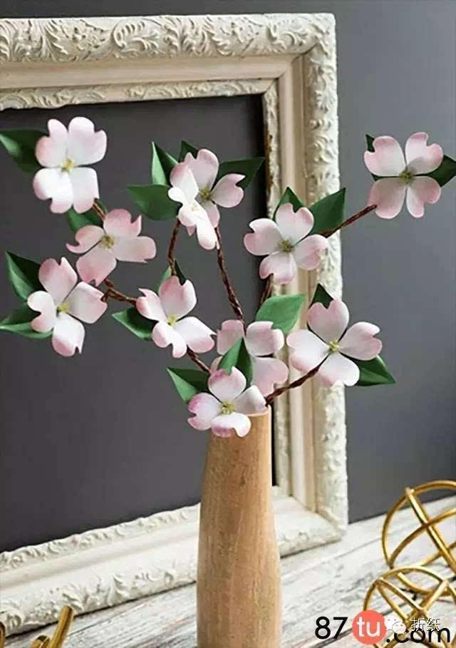 盛开着山茱萸花的折纸方法图解教程