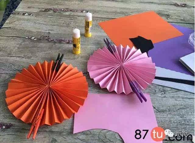 折叠伞顶的结构图