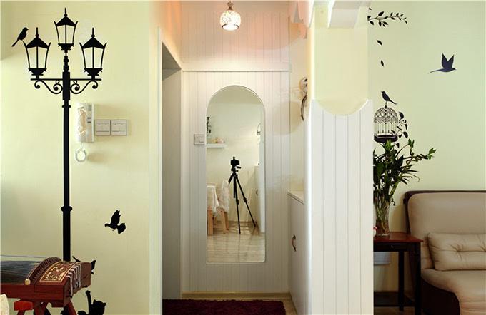 玄关装修设计知识六,镜子扩大空间感