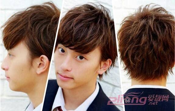 圆脸男生最佳发型推荐:日系纹理烫图片