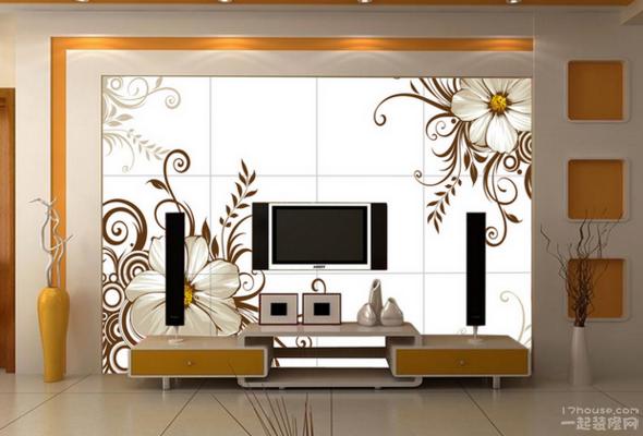手绘电视背景墙 客厅搭配显不同