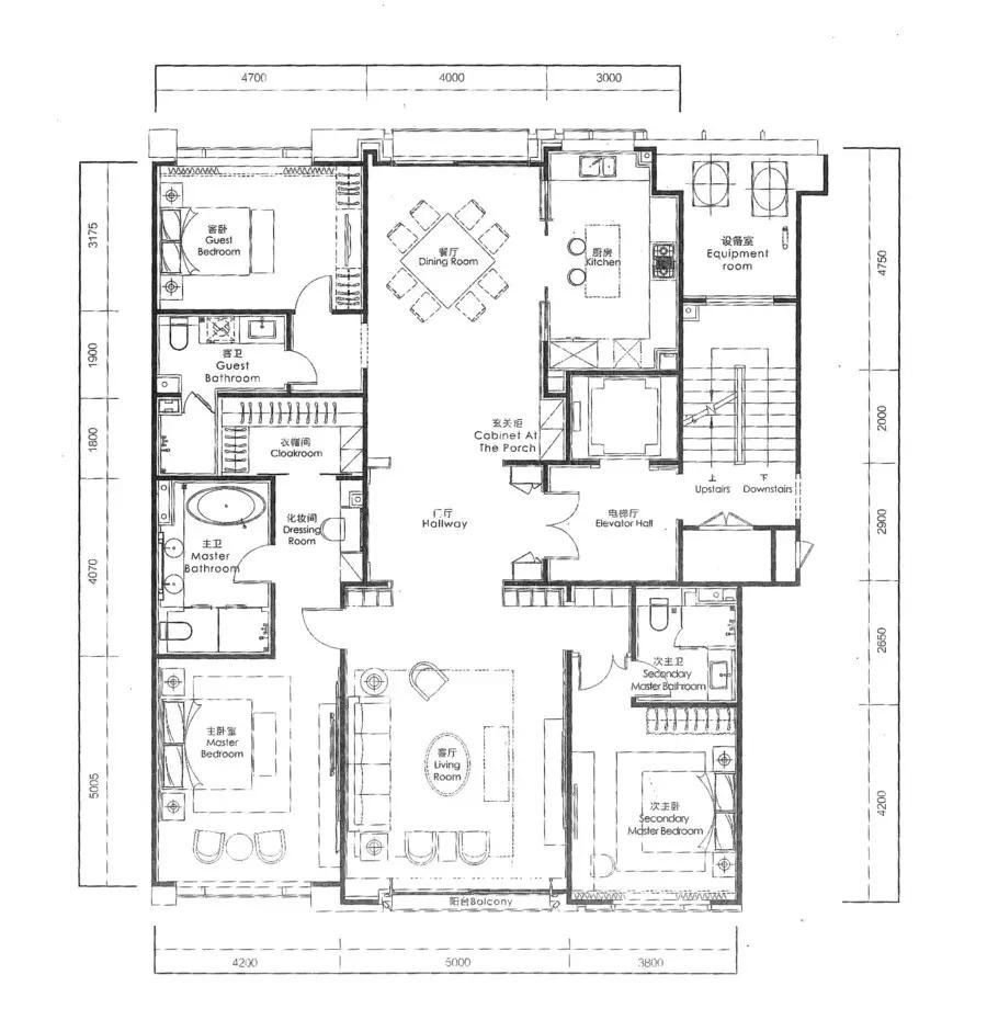 南向三间房的开间适当,若客厅再优越一点,也许更棒.