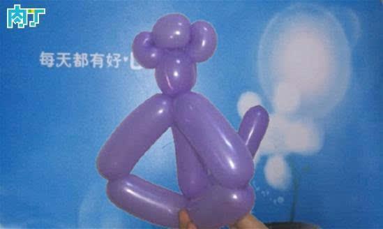 气球造型入门教程之动物小猴子的做法