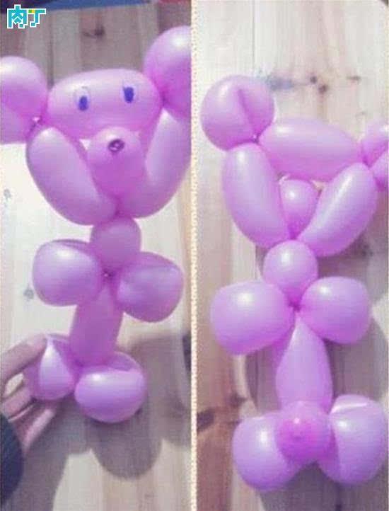 魔术气球基础折法 小熊的做法图解教程