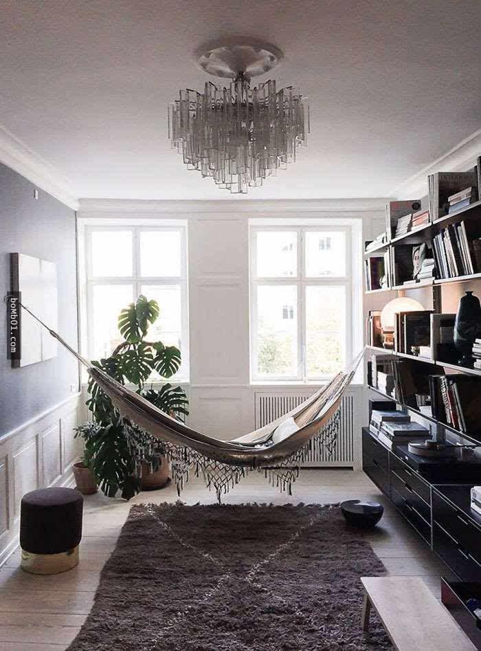 装修房子欧式木吊床图片