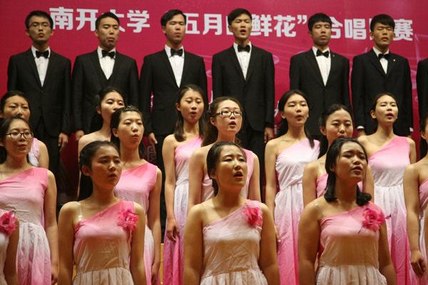 """""""五月的鲜花""""合唱纪念中国共产党成立95周年"""