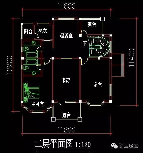 欧式弧形楼梯室外平面图