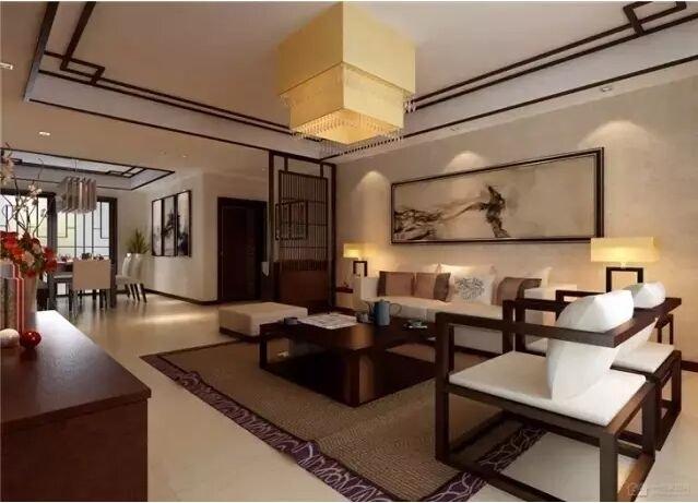 现代中式客厅装修效果图 新中式引领潮流时尚