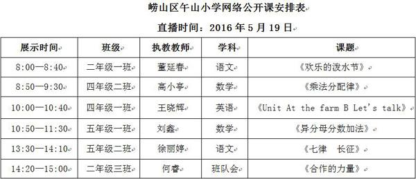"""其它 正文  2016""""爱青岛网络公开课""""5月19日(周四)将走进午山小学"""
