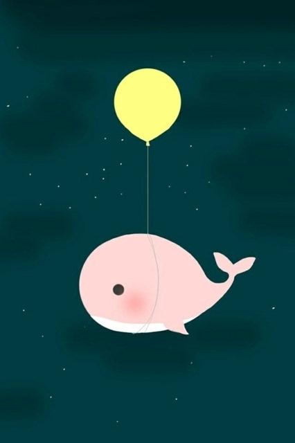 卡通鲸鱼可爱图片手机壁纸