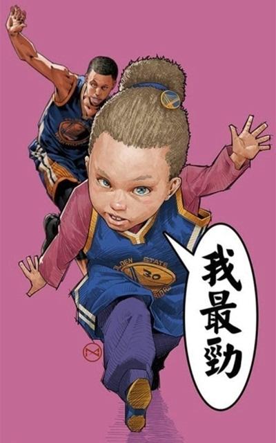 库里卡通人物形象手机壁纸