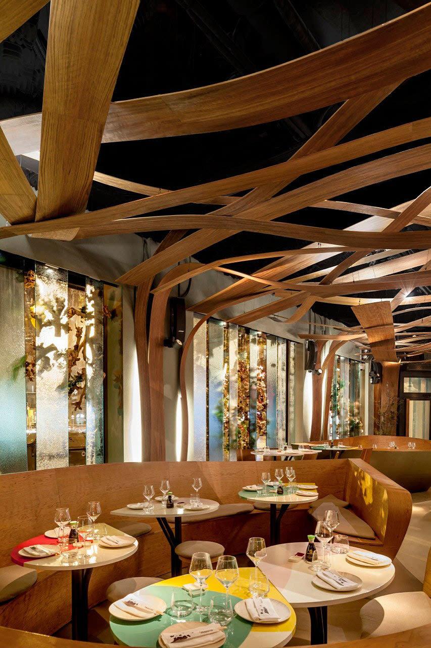 餐厅店面装修效果图_胡桃木的天堂