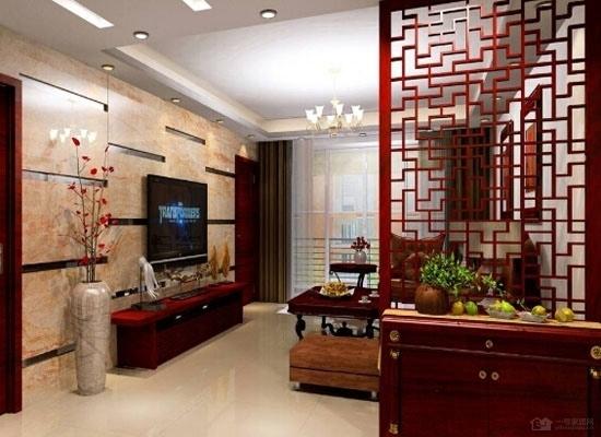 其它 正文  这款客厅隔断装饰柜,主要是采用原木色板式材料拼合而成