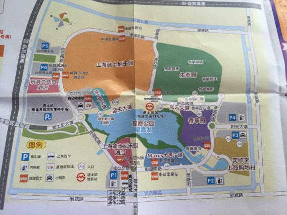 上海国际旅游度假区核心区导览图