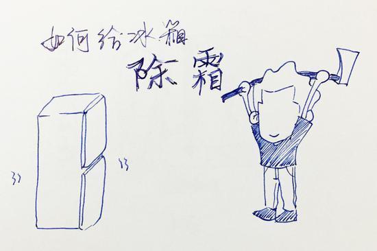 冰箱上设计手绘