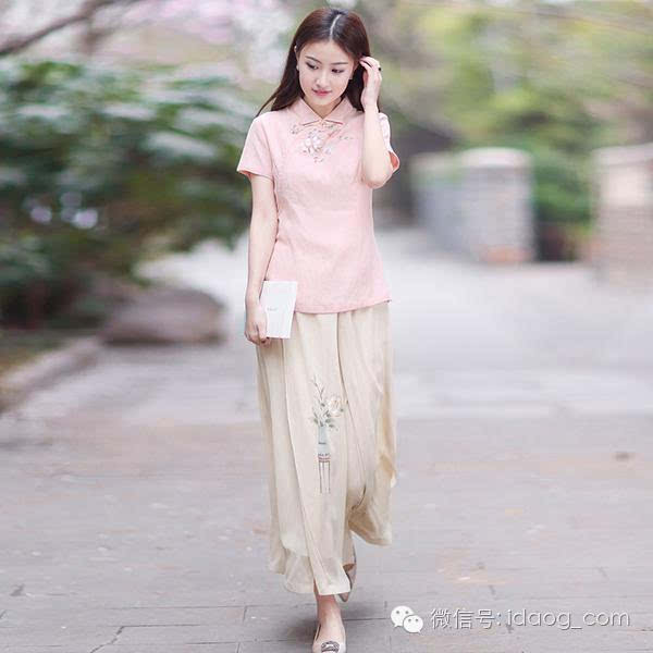 中国风手绘复古汉元素女装大裙摆