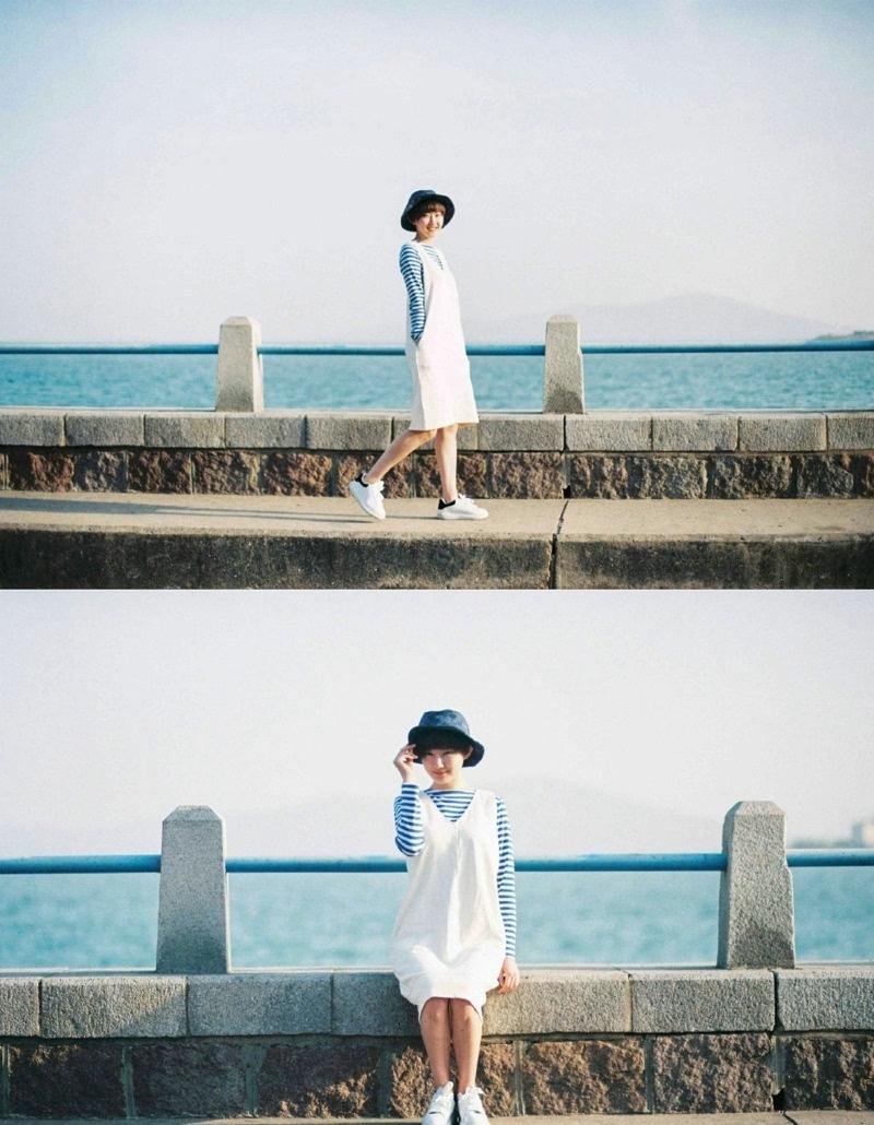 短发清纯美女海边文静随性自由(1)图片