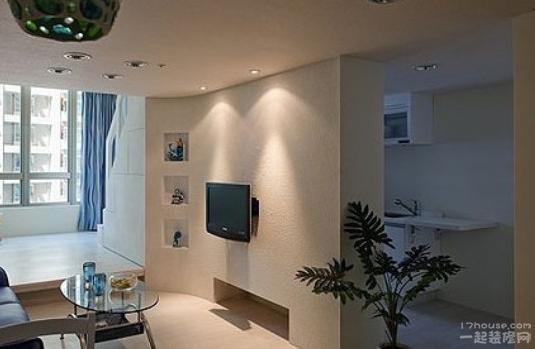 家装隔断设计图 4个隔断作电视墙