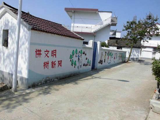 """群众喜闻乐见的农村""""文化墙"""",让美丽乡村多了一道靓丽风景线."""