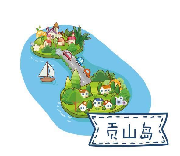 这份超萌的手绘新区旅游地图