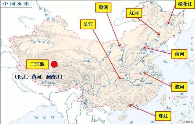 长江河流地图高清全图